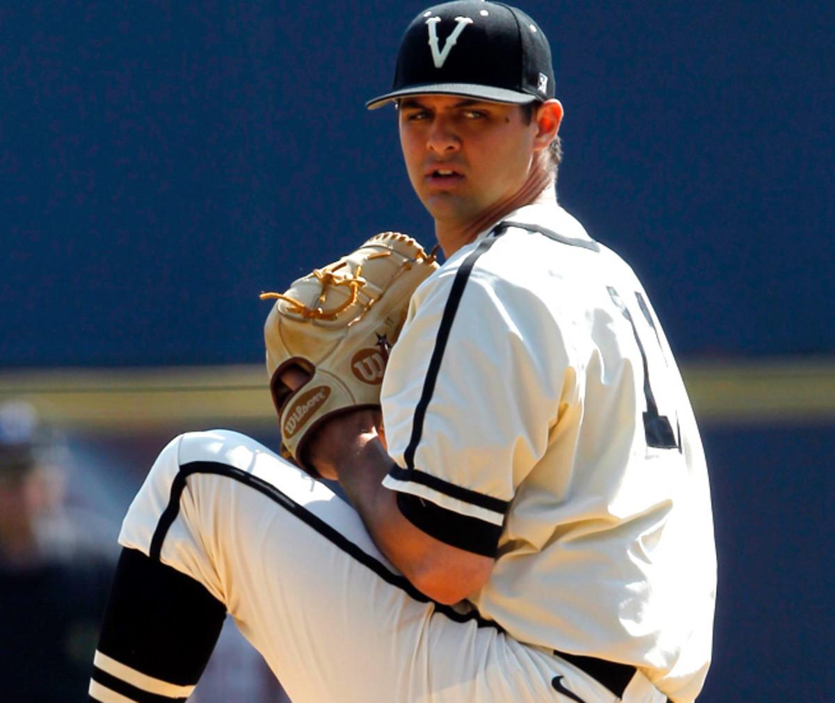 Vanderbilt right-hander Tyler Beede has seen his stock slip after a lackluster spring campaign.