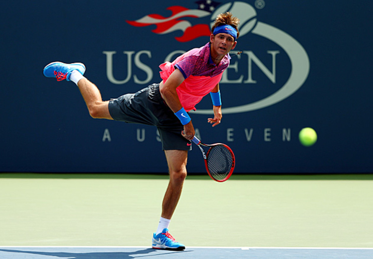 Jared Donaldson, an 17-year-old American, lost to Gael Monfils in the first round of the U.S. Open.