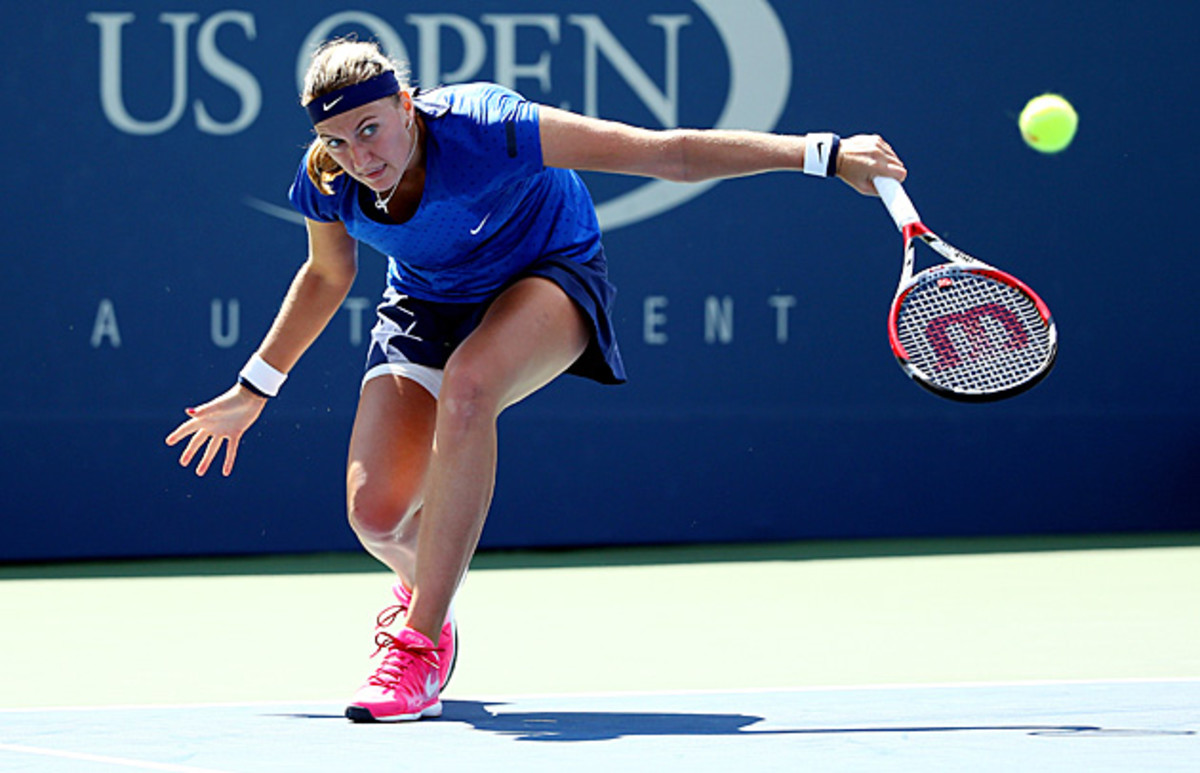 Wimbledon champion Petra Kvitova has failed to make it past the fourth round of the U.S. Open in seven appearances.