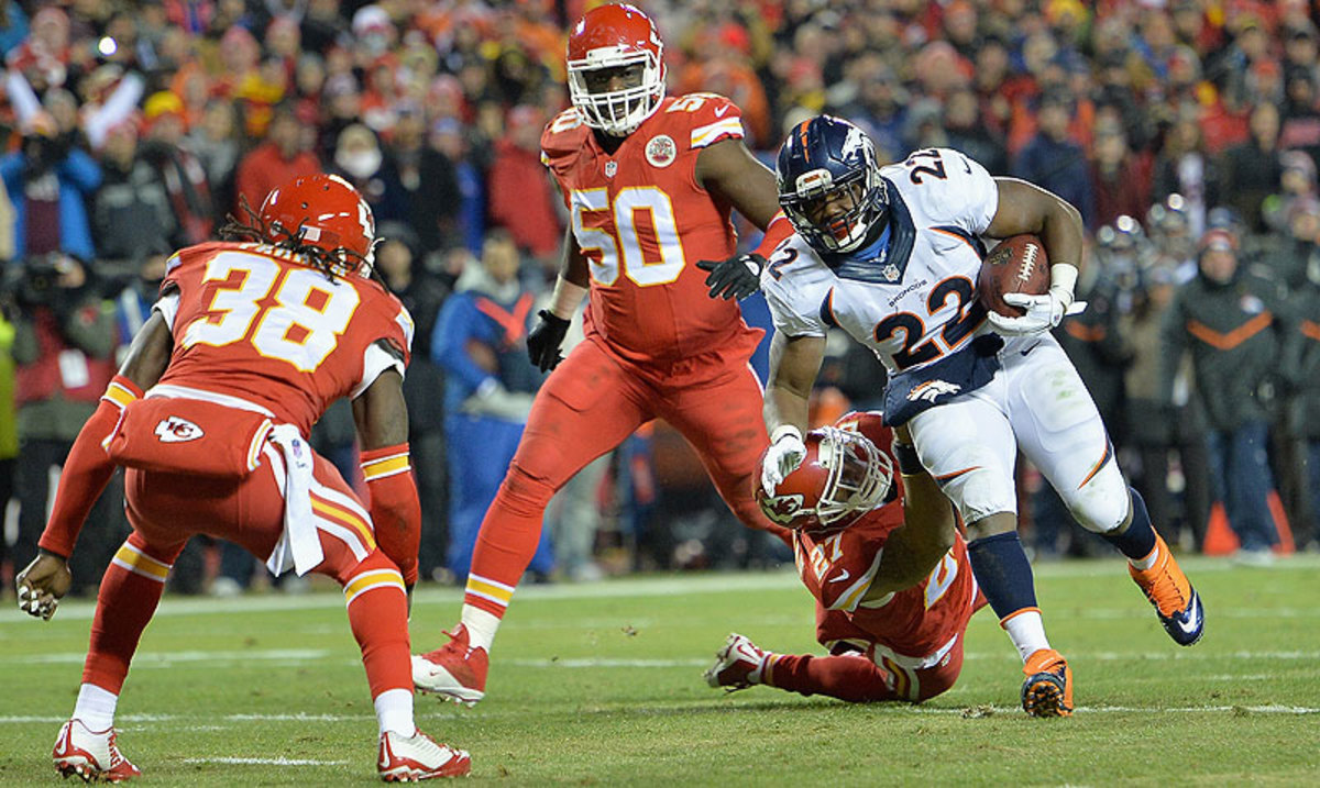 In the Broncos' past three wins, C.J. Anderson has rushed 72 times for 425 yards, just under six yards per carry. (Peter Aiken/Getty Images)