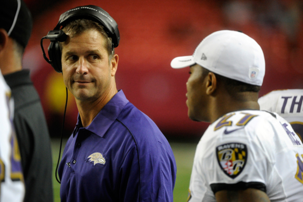 John Harbaigh and Ray Rice need to turn the Ravens around -- and they're in this together. (John Amis/AP)