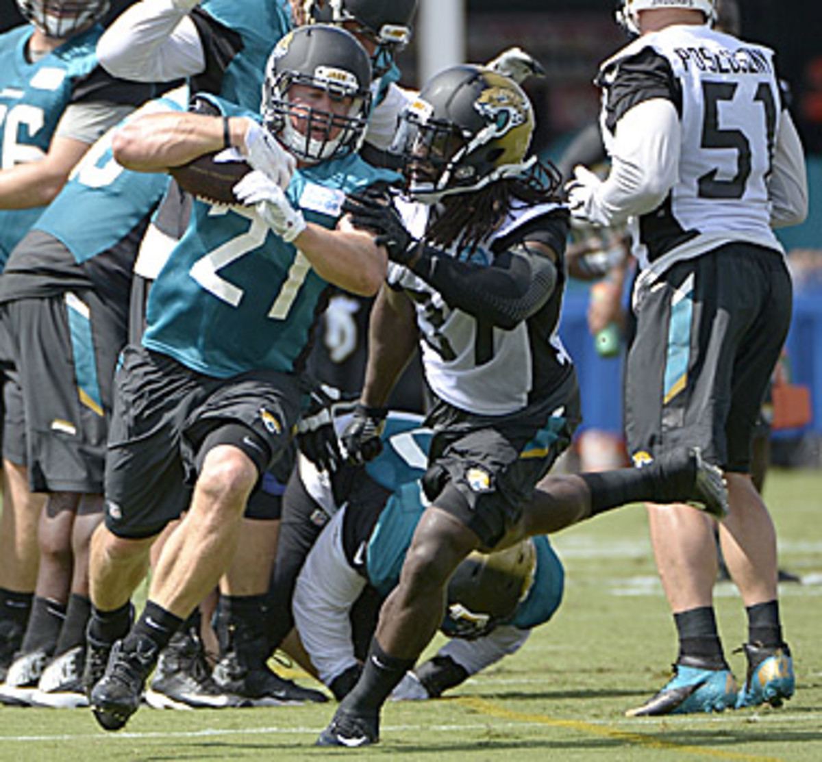 The Jaguars will feature a heavy dose of Gerhart. (Phelan M. Ebenhack)