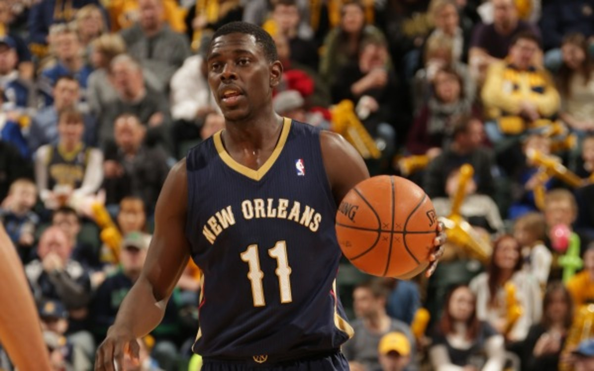 Pelicans guard Jrue Holiday's scoring and assists averages were down this season. (Ron Hoskins/NBAE via Getty Images)
