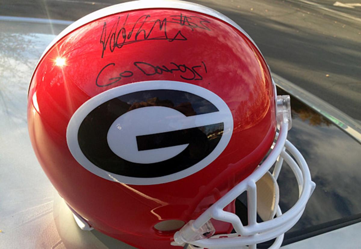 todd gurley signed helmet