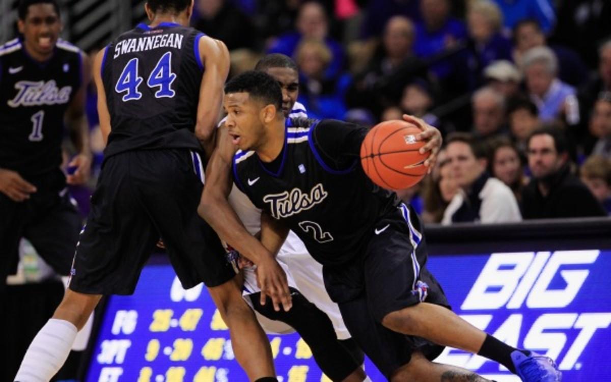 Tulsa senior guard Pat Swilling played in 20 games this season before being suspended. (AP Photo/Nati Harnik)
