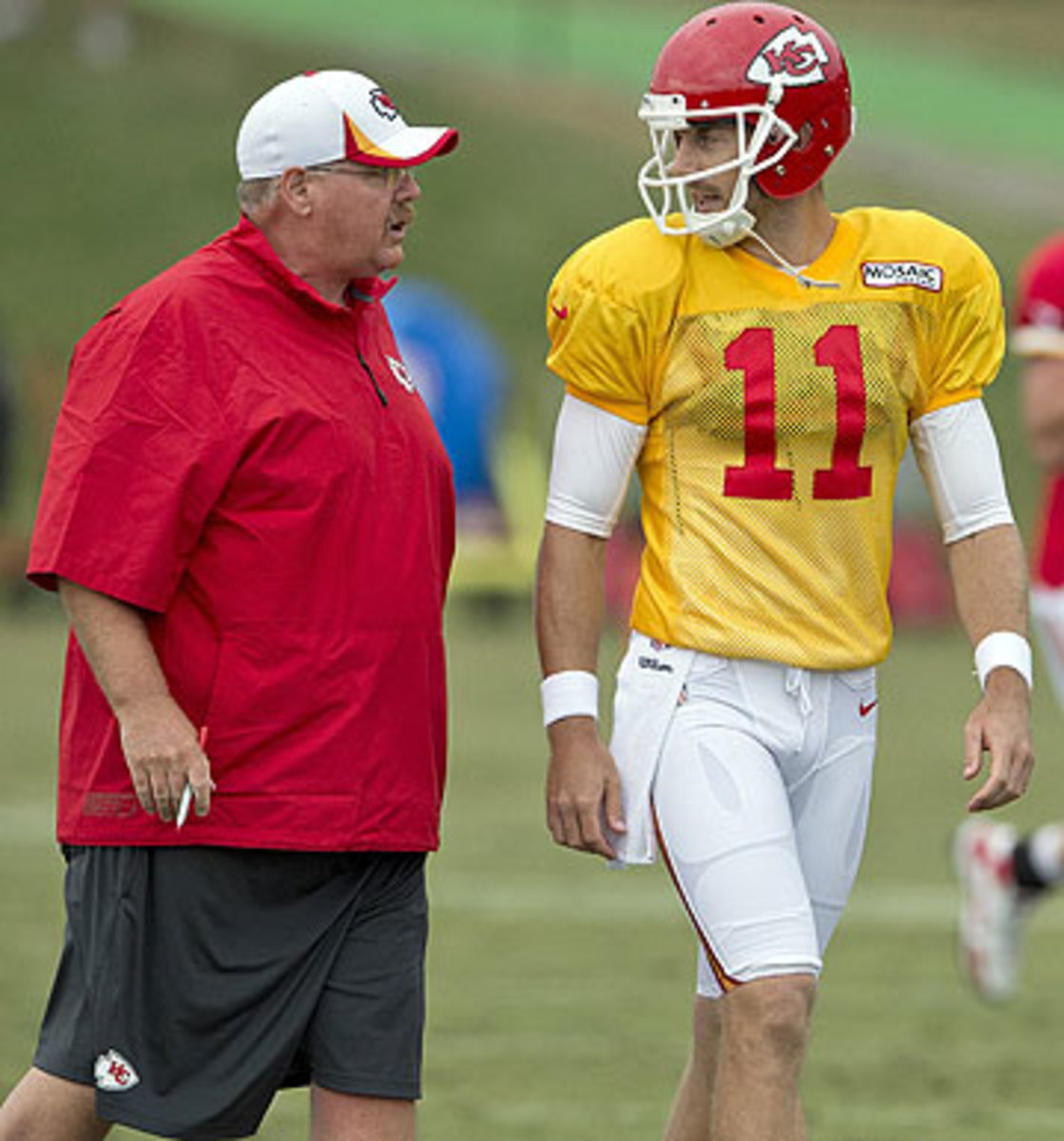 In their first seasons with the Chiefs, Smith and Andy Reid led the team to the playoffs. (David Eulitt/Getty Images)