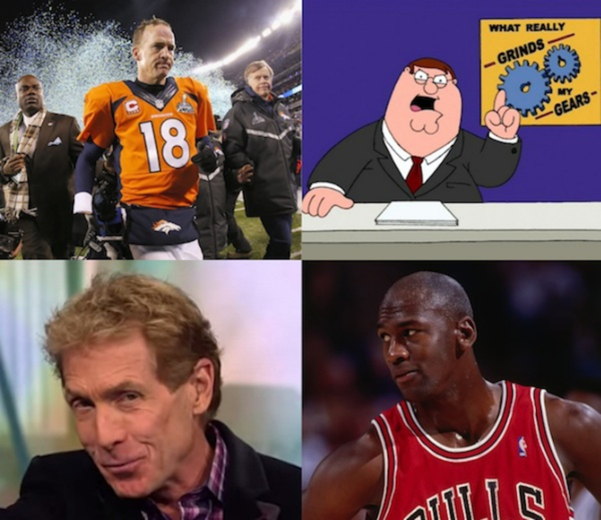 L-R Getty Images; Comedy Central; Getty Images; Twitter/ESPN_FirstTake