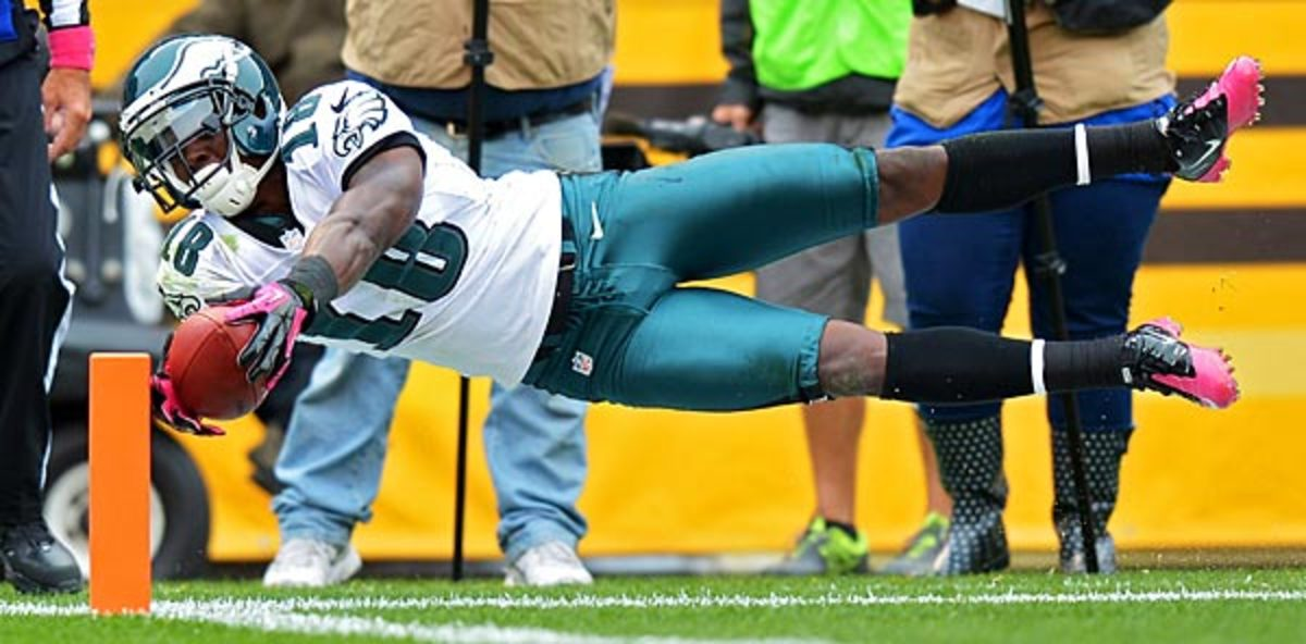 The Eagles face a tough challenge in replacing the production of Jeremy Maclin, who's out for the year. (Drew Hallowell/Getty Images)