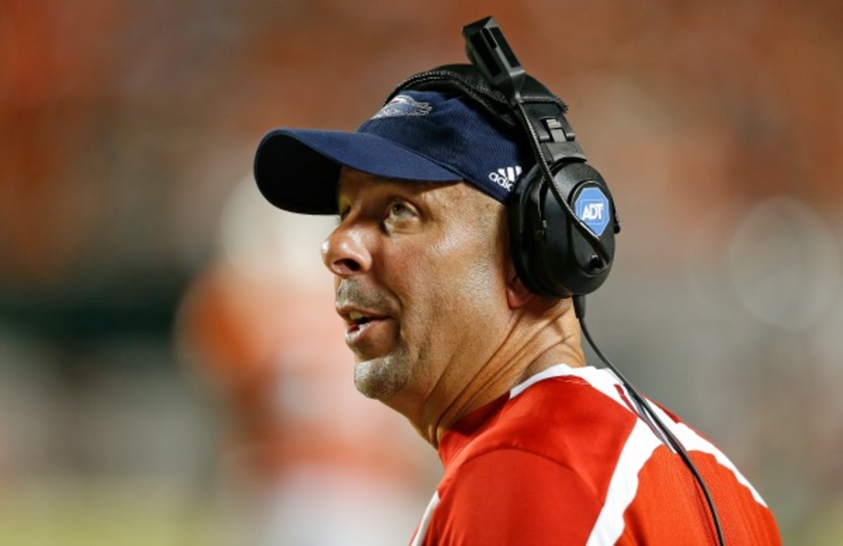 Former FAU head coach Carl Pelini lost 15 of his 20 games in his two years at the school. (Joel Auerbach/Getty Images)