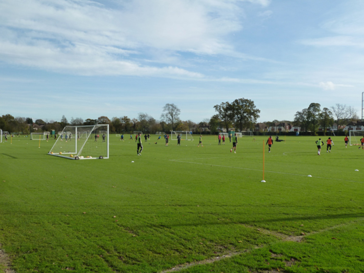 Motspur Park, where Fulham's academy trains, consists of six full-size fields.