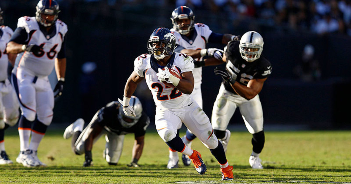 C.J. Anderson was an unexpected star for the Broncos on Sunday, racking up 90 rushing yards, 73 receiving yards and a touchdown. (Jed Jacobsohn/Sports Illustrated/The MMQB)