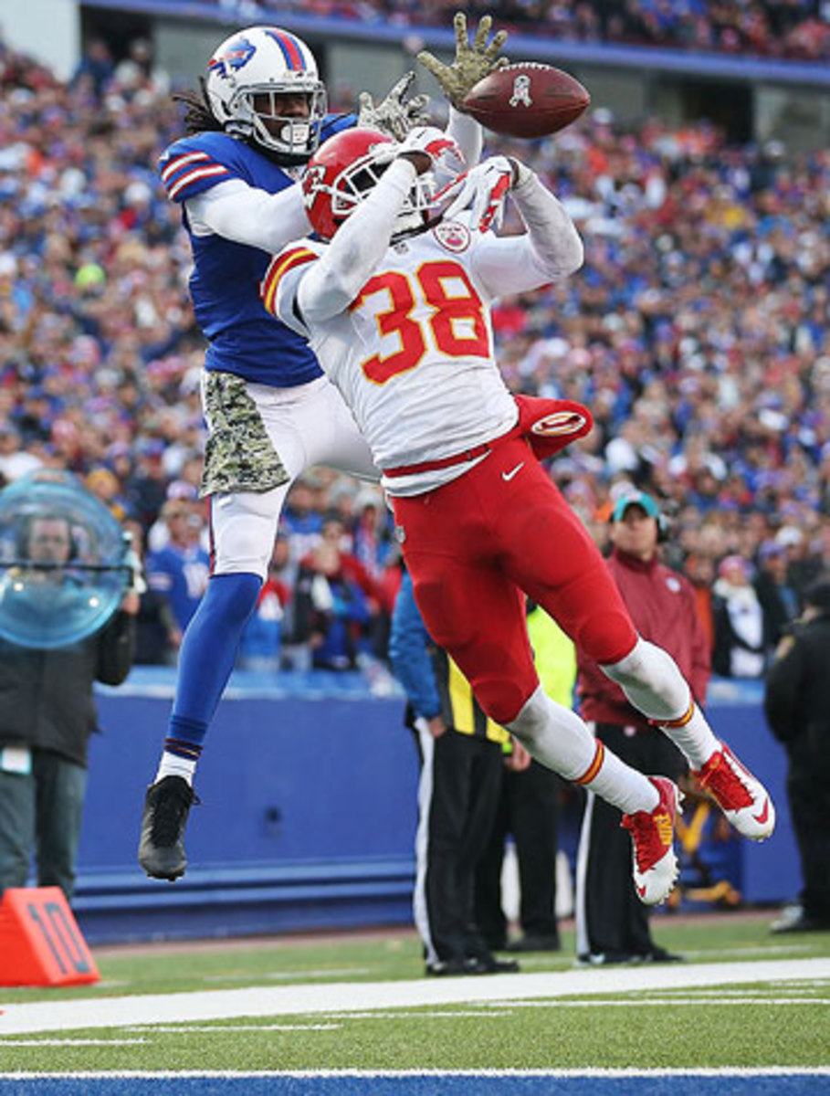 Ron Parker and the Chiefs limited Sammy Watkins to 27 yards receiving on Sunday. (Tom Szczerbowski/Getty Images)