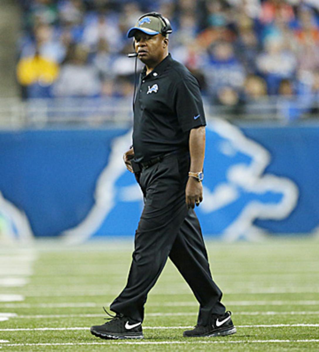 Jim Caldwell has preached discipline in his first year as Lions head coach. (Rick Osentoski/AP)