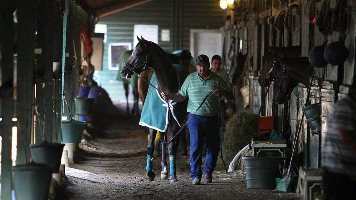 The early mornings at Monmouth—when horses walk the shedrow between training sessions—are one of the things Forbes loves most about the historic racetrack.