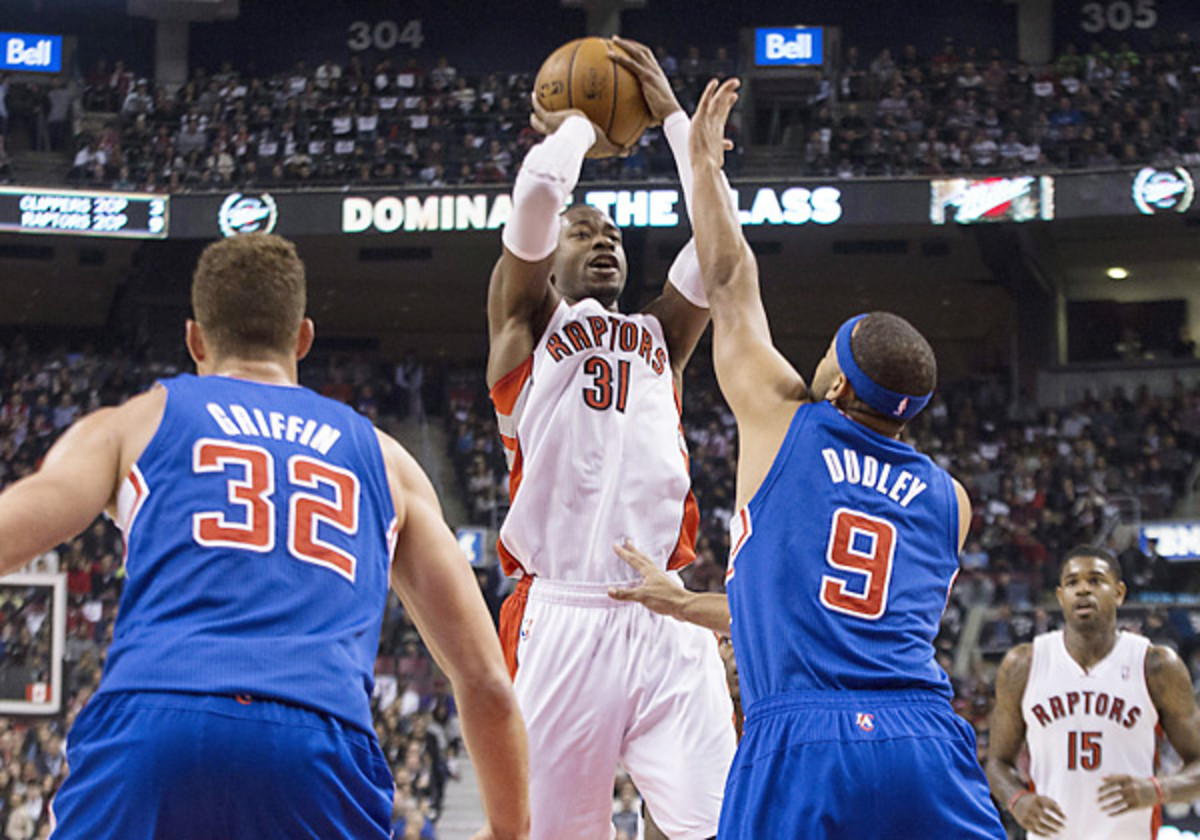 Terrence Ross tied a Raptors single-game scoring record with 51 points against the Clippers. (Chris Young/AP)