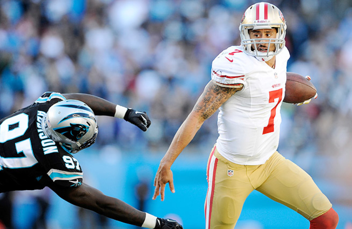 Colin Kaepernick is now 3-0 in road playoff games, but he'll face a stiff test in Seattle during the NFC title game.