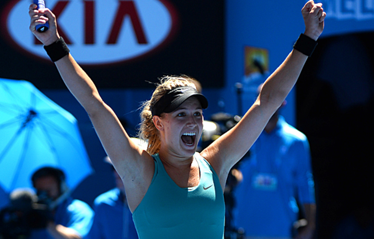 Eugenie Bouchard is the first Canadian to reach the semifinals at the Australian Open. (WILLIAM WEST/AFP/Getty Images)