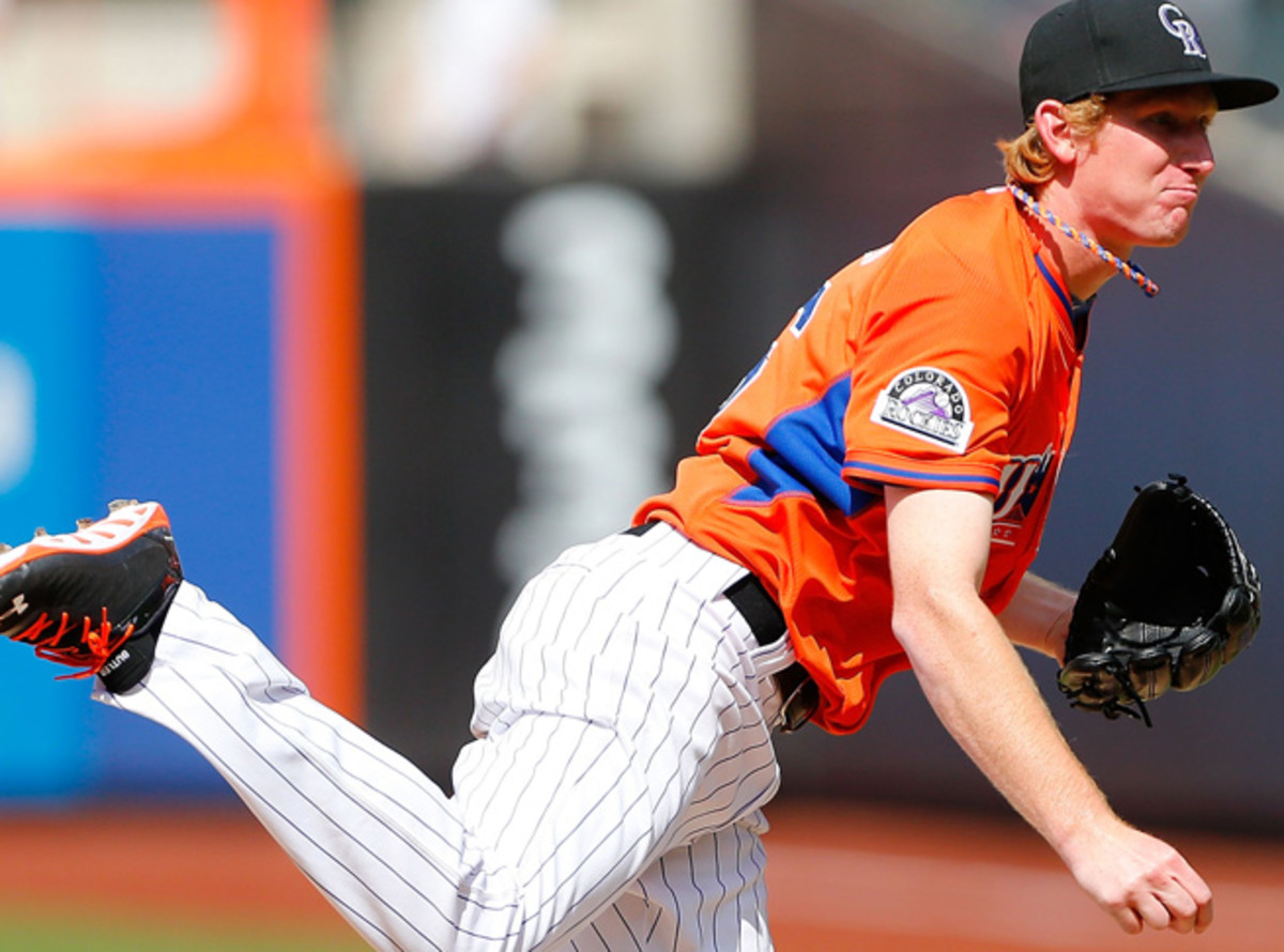 Eddie Butler has gone 4-4 with a 2.49 ERA and 40 strikeouts for Double-A Tulsa this season.
