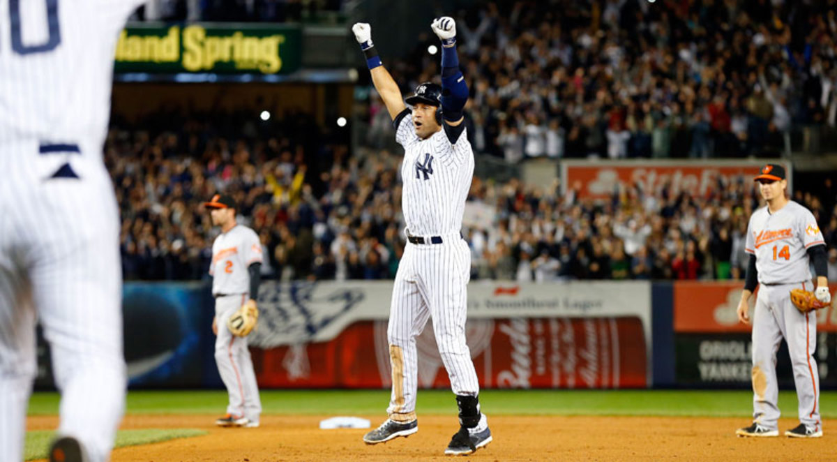 Derek Jeter finished his career ranked sixth on the all-time hits list and ninth in runs scored. (Jim McIsaac/Getty Images)
