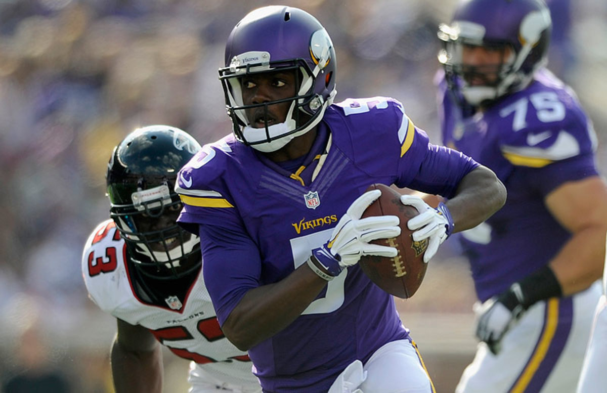Teddy Bridgewater guided the Vikings to a monstrous offensive day, as the unit accumulated 558 total yards against the Falcons. (Hannah Foslein/Getty Images)