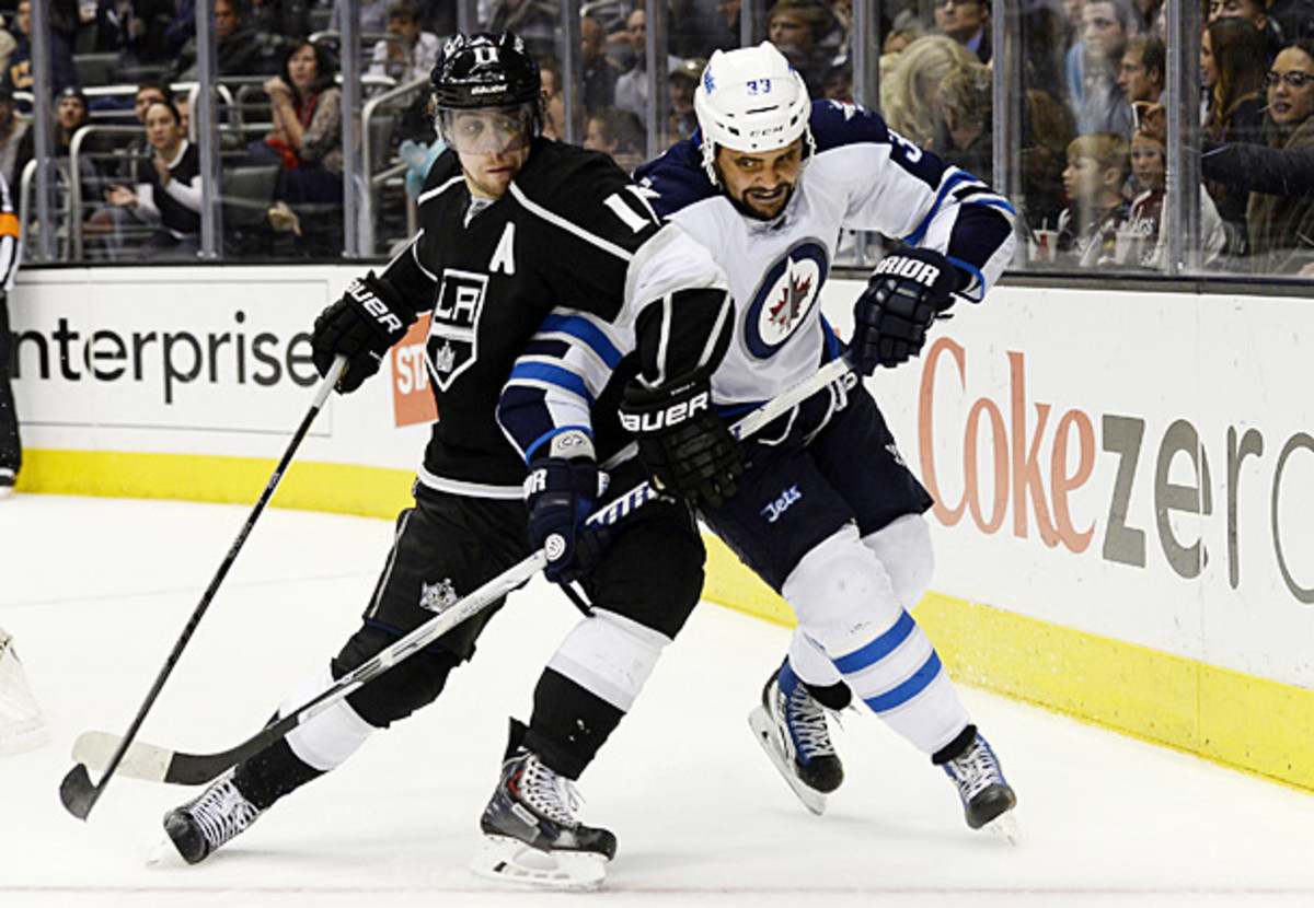 Anze Kopitar of the Los Angeles Kings was nominated for the 2014 Selke Trophy