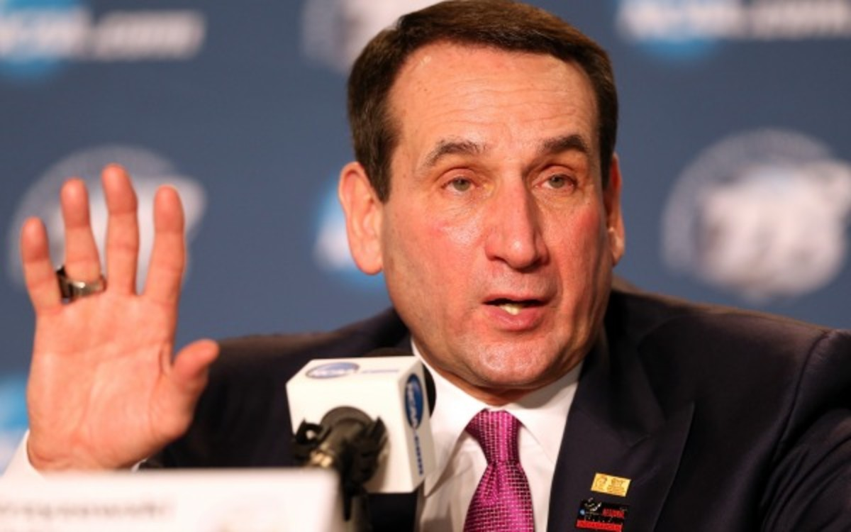 Duke head coach Mike Krzyzewski made almost $10 million in 2011. (Andy Lyons/Getty Images)