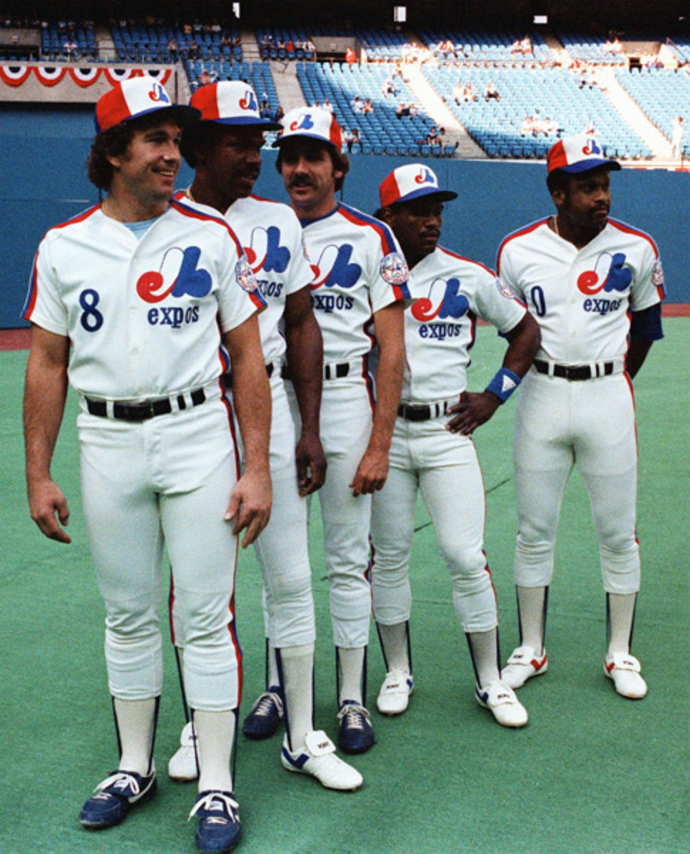 Gary Carter, Andre Dawson, Steve Rogers, Tim Raines and Al Oliver :: AP