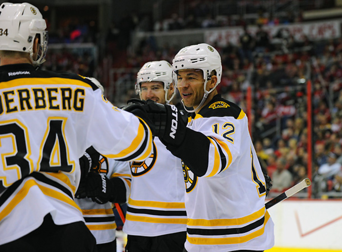 Jarome Iginla's recent surge represents is welcome news for the Bruins. (Mark Goldman/Icon SMI)