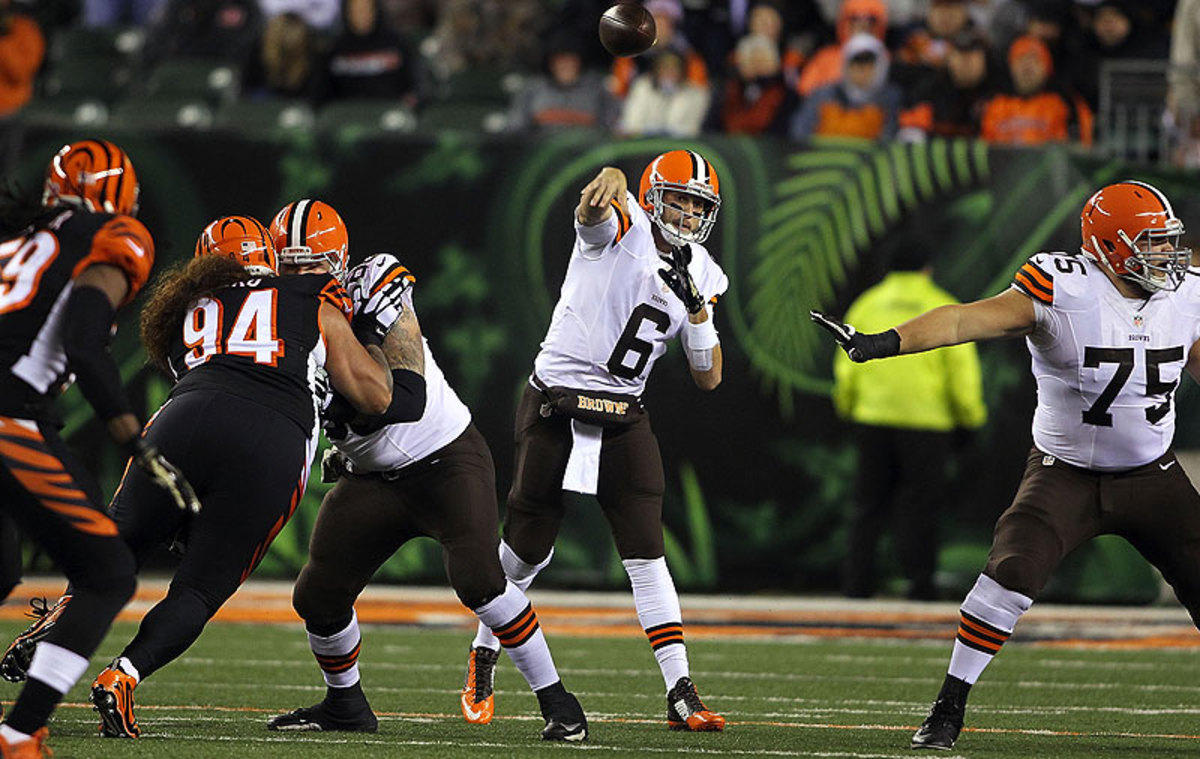 Brian Hoyer is now 9-3 as the Browns starting quarterback, dating back to the end of the 2013 season. (John Grieshop/Getty Images)