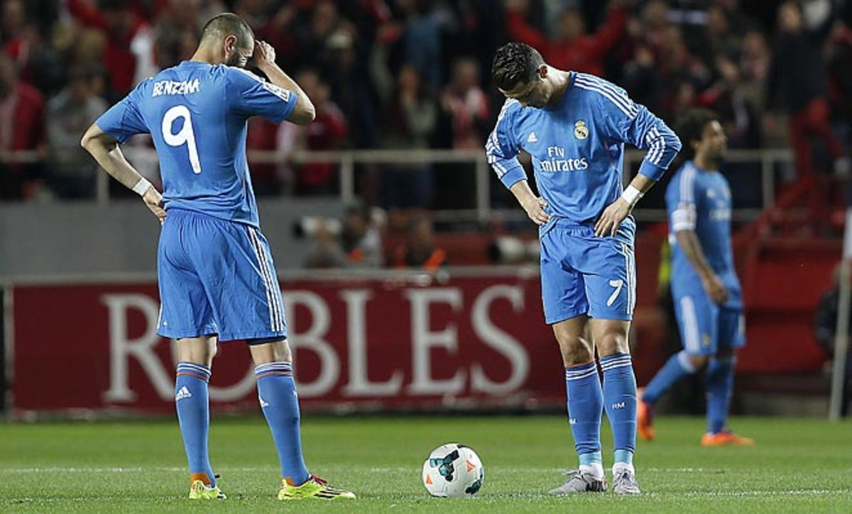 Real Madrid's loss to Sevilla on Wednesday pushed the club down to third in the La Liga standings.
