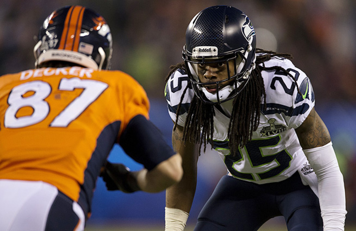 Richard Sherman and the Seahawks held the NFL's top scoring offense to one TD in Super Bowl XLVIII.