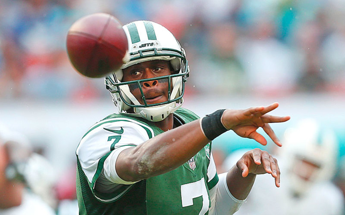 Geno Smith has the upper hand in the Jets' QB competition. (Joel Auerbach/Getty Images)