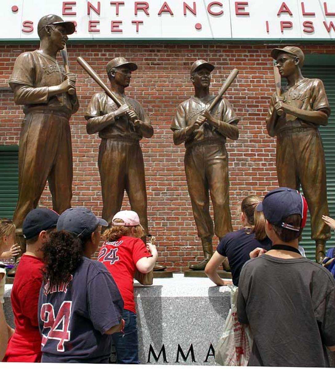 Ted Williams, Bobby Doerr, Johnny Pesky, and Dom DiMaggio