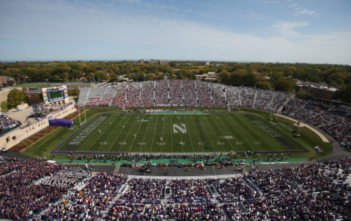 Northwestern University football players were declared employees by the NLRB earlier this year. (Jonathan Daniel/Getty  Images)