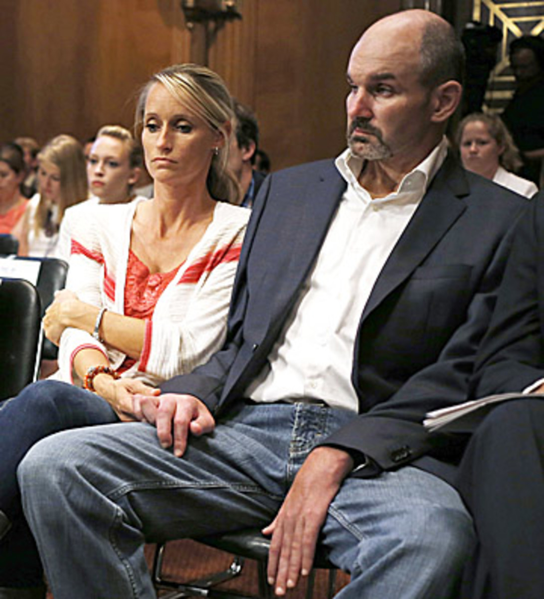 The compensation of Kevin Turner, a name plaintiff who suffers from ALS, will not change. (Charles Dharapak/AP)