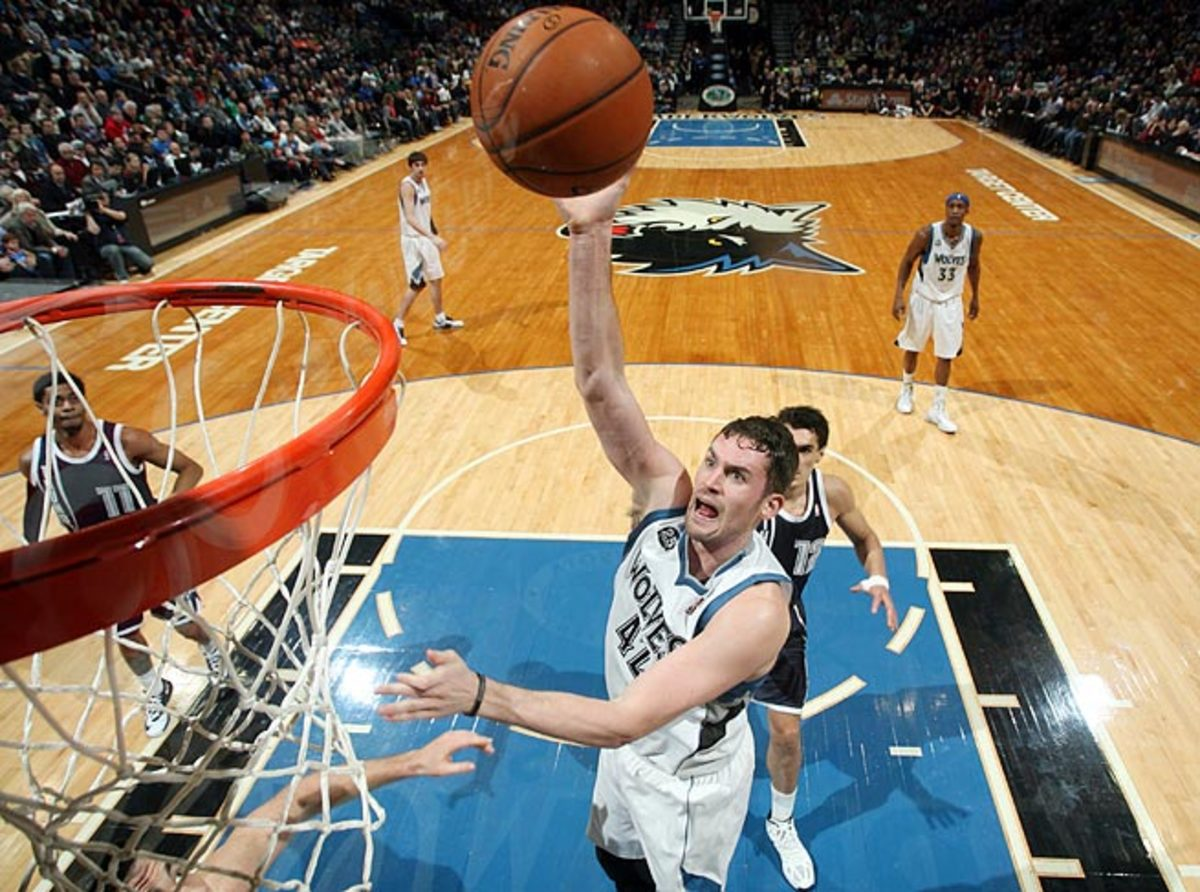 Minnesota's Kevin Love faces an uphill climb to make the playoffs for the first time in his six years.