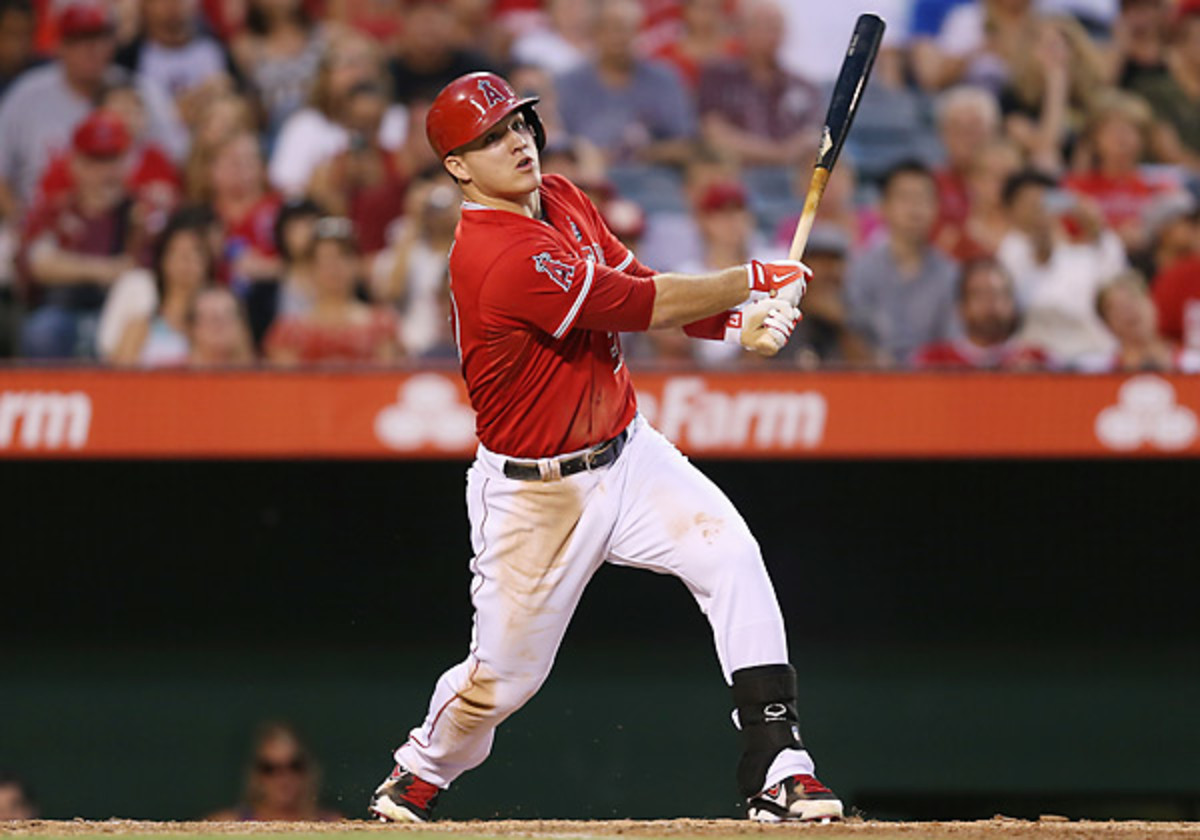 Mike Trout's new deal with the Angels will pay him an average of $24.1 million a season. (Jeff Gross/Getty Images)