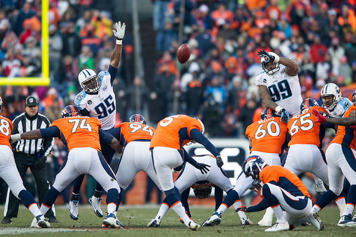 Even big-legged kickers like Matt Prater—who booted a record 64-yarder against Tennessee this season—can find the Meadowlands a daunting environment. (Dustin Bradford/Getty Images)