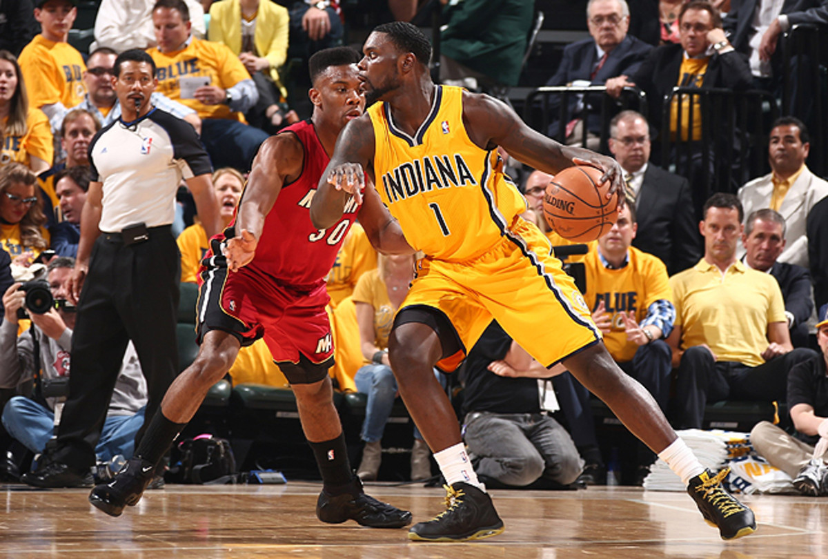 Lance Stephenson was a matchup problem for the Heat all afternoon, no matter who guarded him.