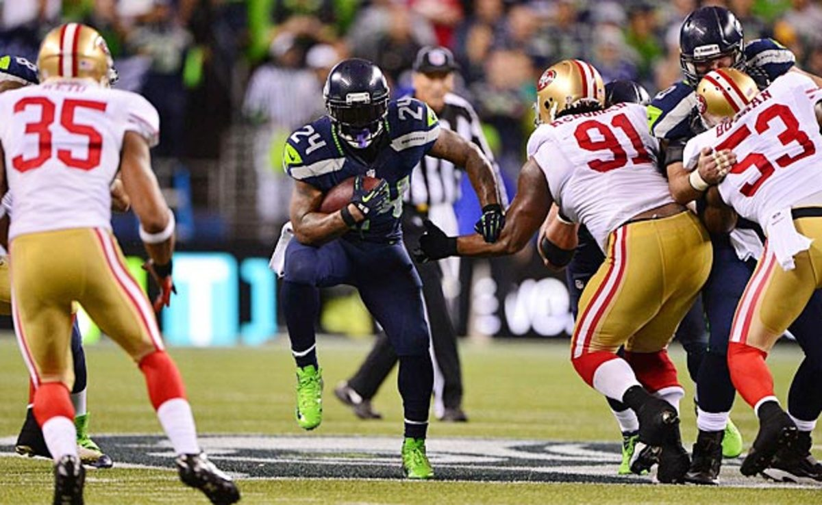 Marshawn Lynch and the Seahawks have had San Francisco's number in Seattle.