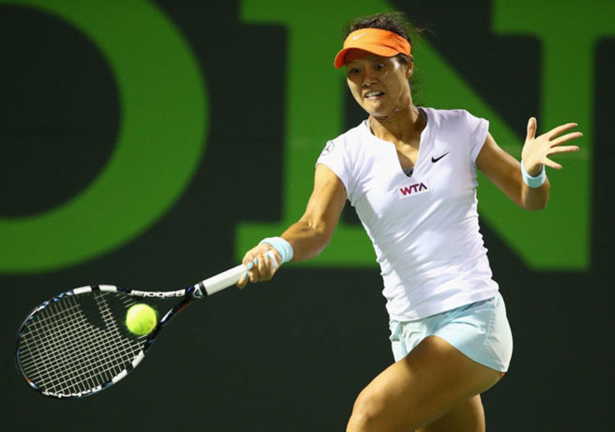 Despite a sloppy game, Li Na was able to prevail in three sets over Dominika Cibulkova.
