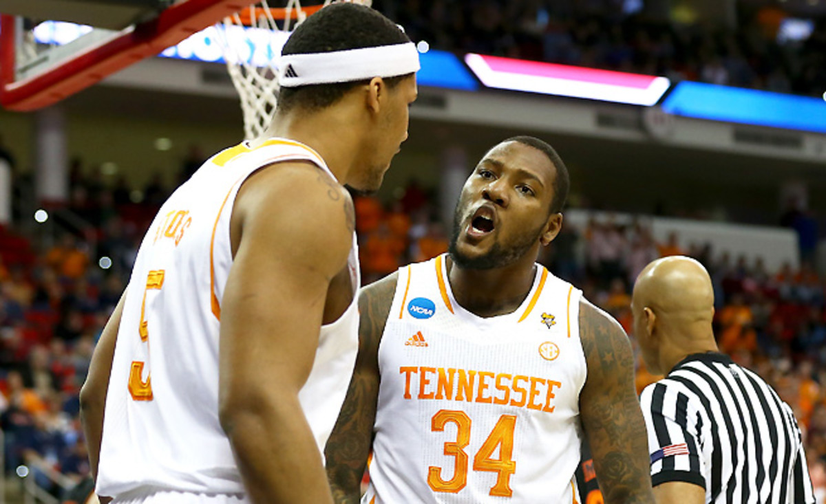 Jeronne Maymon (34) and Jarnell Stokes are beasts inside, but can they power the Vols past Michigan?