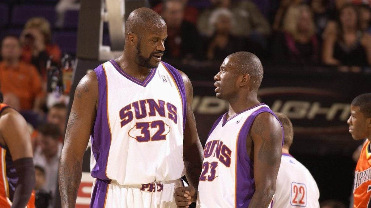 Shaquille ONeal would get naked and surprise attack his