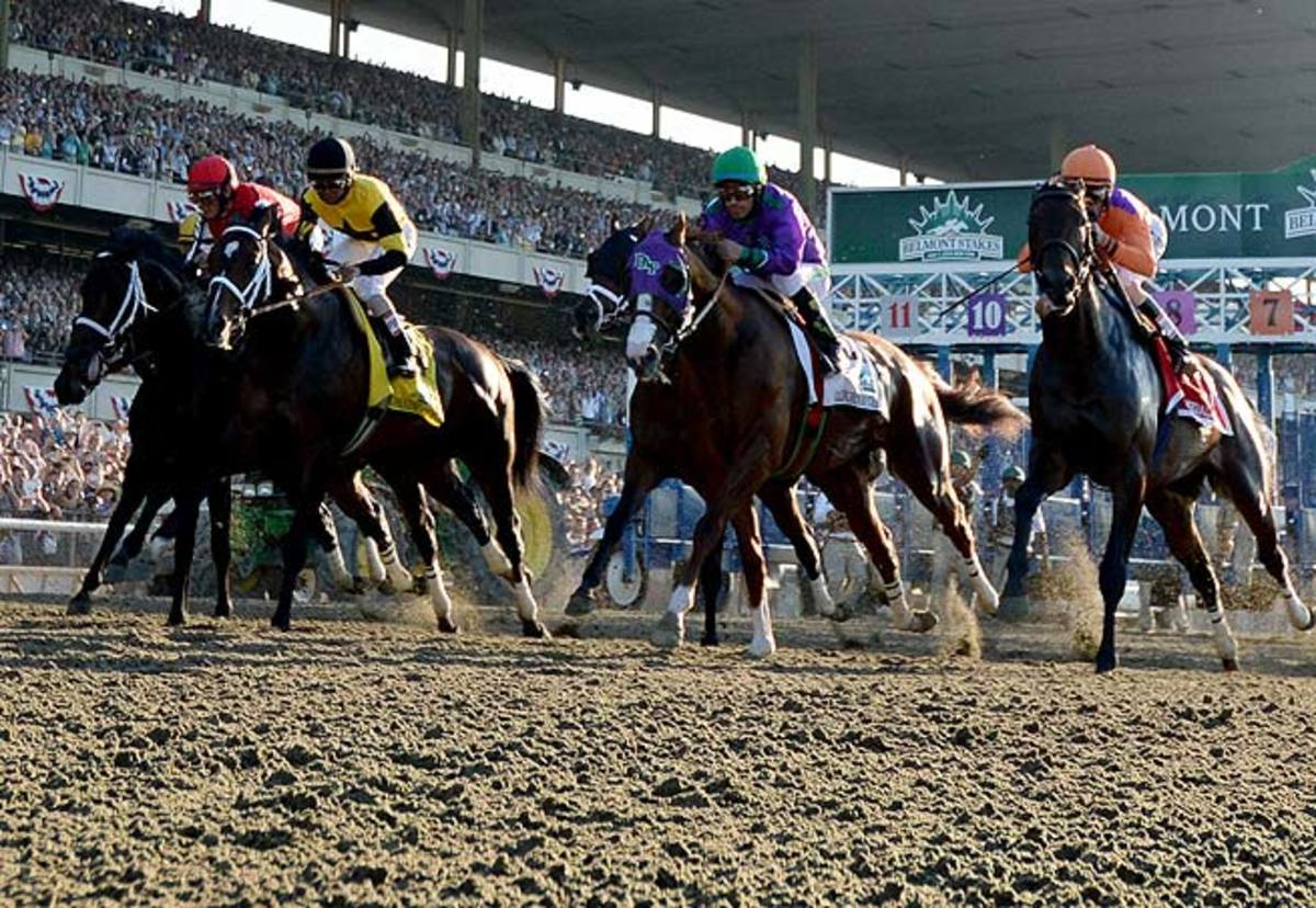 A crowd of 100,000-plus anxiously watched as California Chrome approached Triple Crown history.