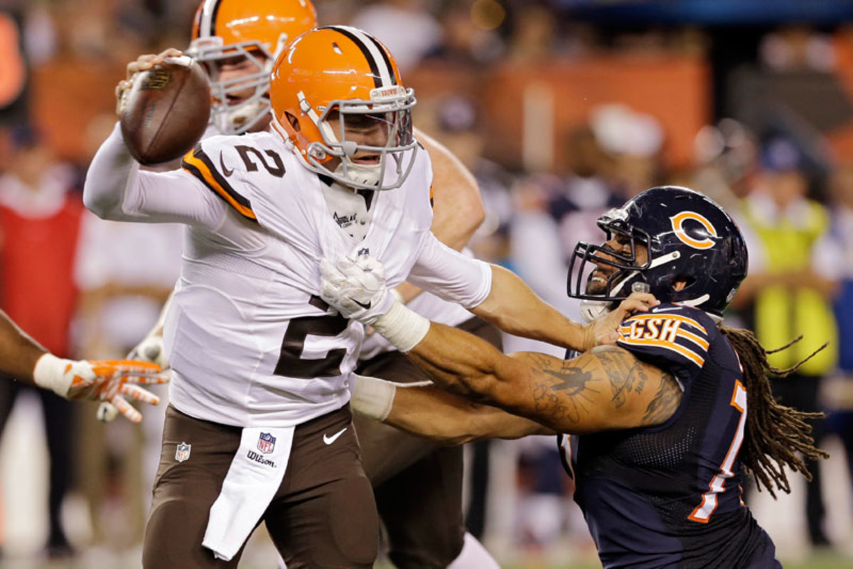 Lane played some prime time against the Browns on Thursday but knew he faced a numbers game on a beefed-up Bears defensive line. (Tony Dejak/AP)