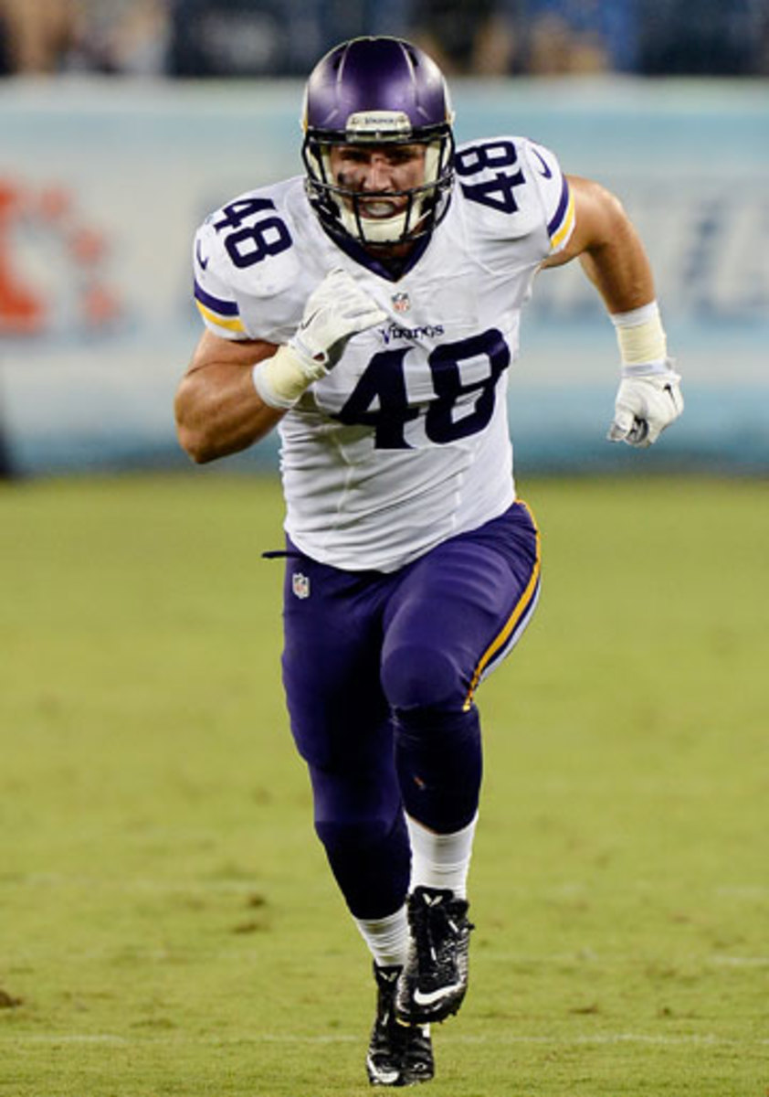 Line knew that special teams play would have a big say in whether the Vikes would keep him. (Mark Zaleski/AP)