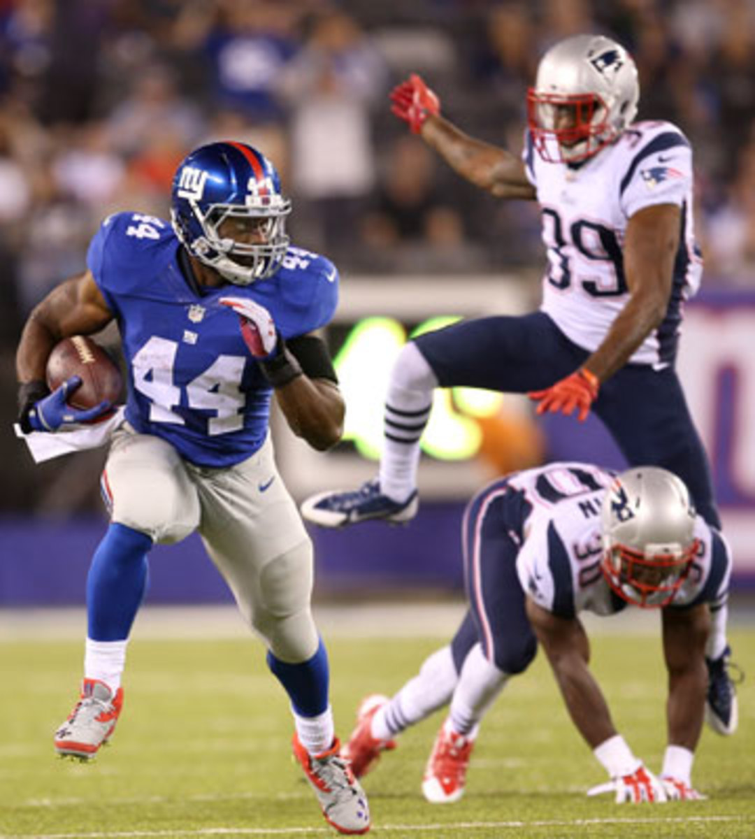 Williams' impressive summer culminated with a feature role against the Pats in the preseason finale. (John Minchillo/AP)