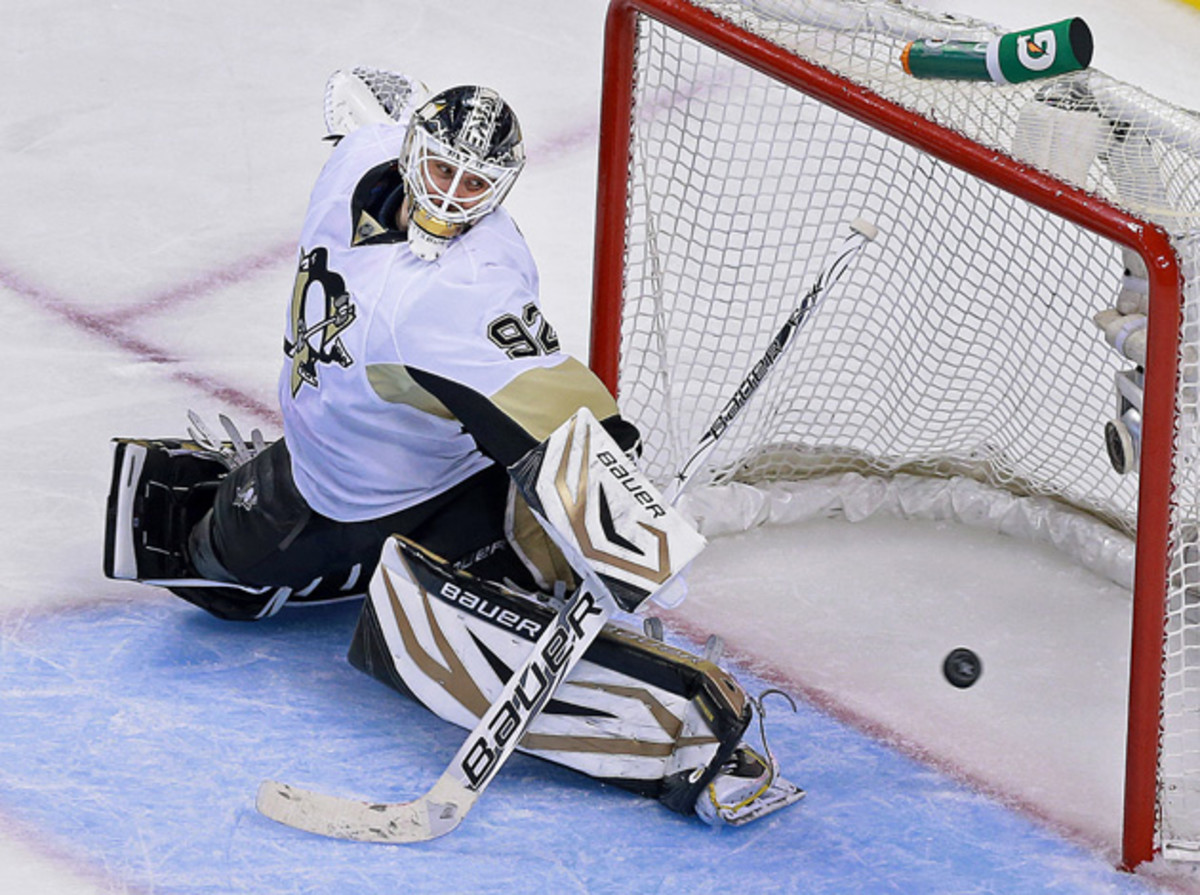 Penguins goalie Tomas Vokoun announced his retirement after having missed much of the 2013-14 season with blood clots.