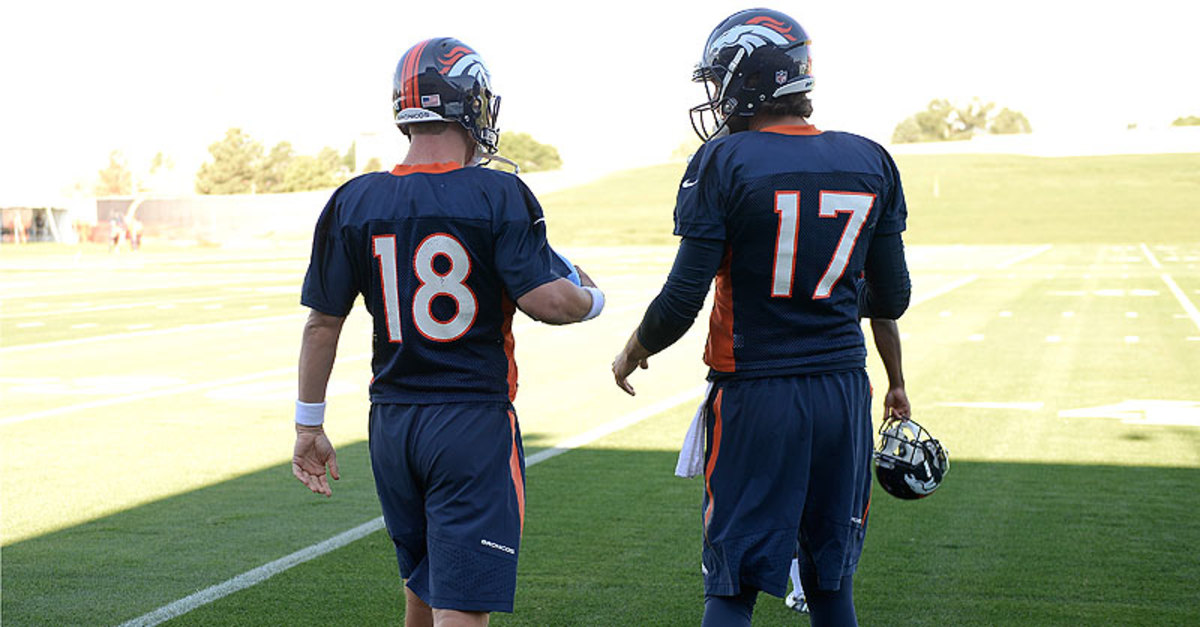 Brock Osweiler is in his third season as Peyton Manning's quarterback understudy on the Broncos. (John Leyba/Getty Images)