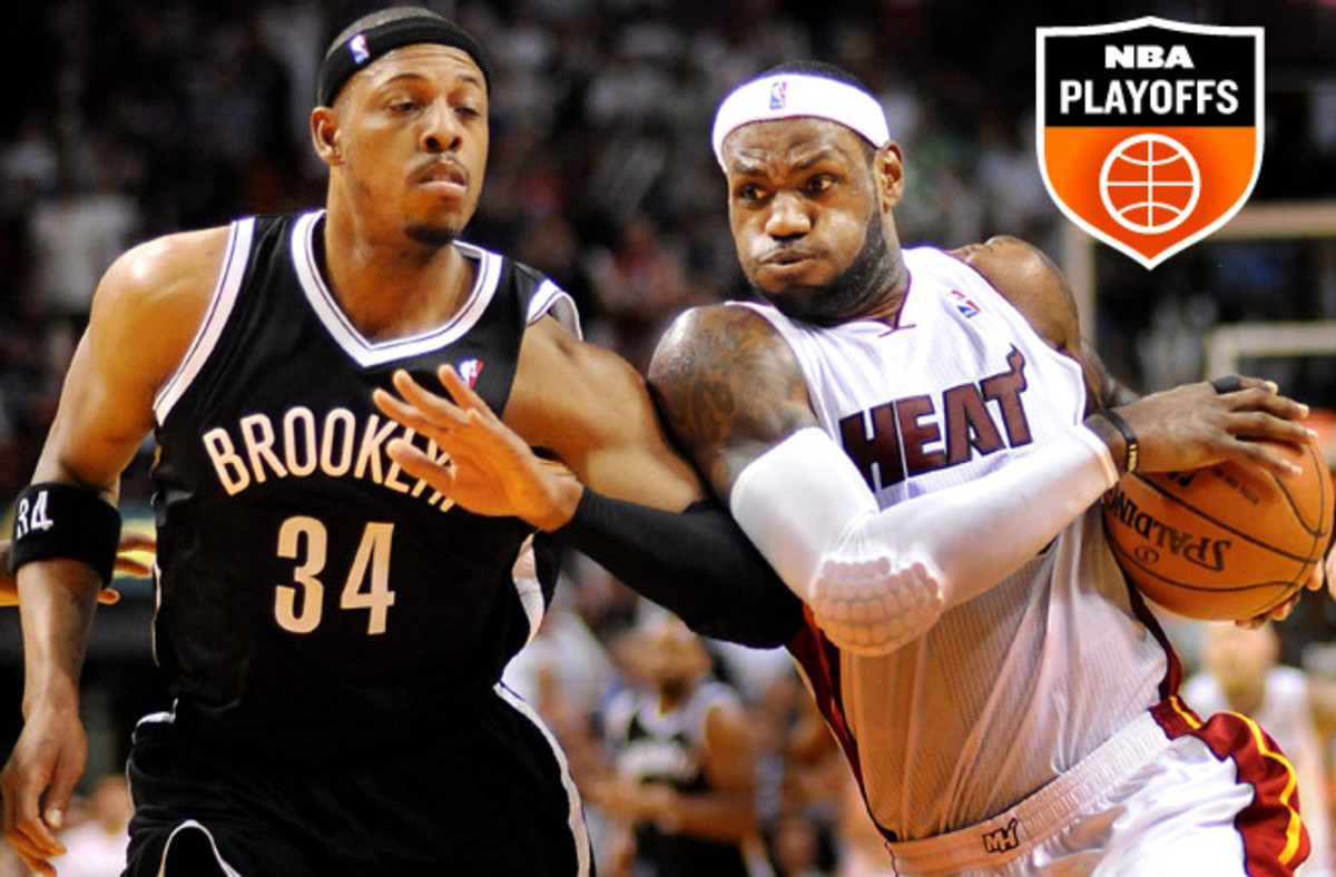 LeBron James and the two-time defending champions were swept 4-0 by the Nets during the season.